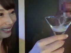 希咲あやのカクテルグラスごっくん