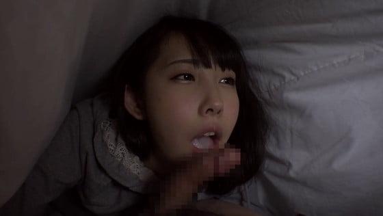 母が眠る隣で父の布団に潜り込みフェラごっくん