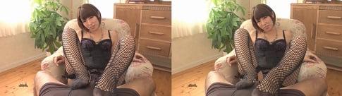主観足コキの立体感がハンパない3D動画