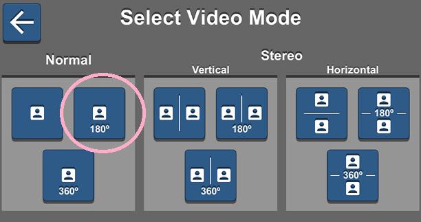 VaR's VR Video Player なら180度を選択してバーチャルごっくん体験